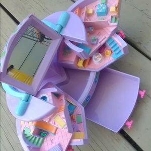VINTAGE 1991 Polly Pocket Jewelry Box Train Case
